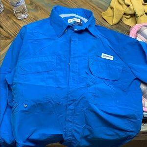 Magellan long sleeve fishing shirt. Size L